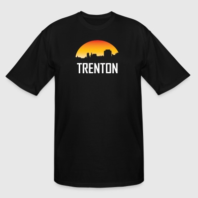 Trenton New Jersey Sunset Skyline - Men's Tall T-Shirt