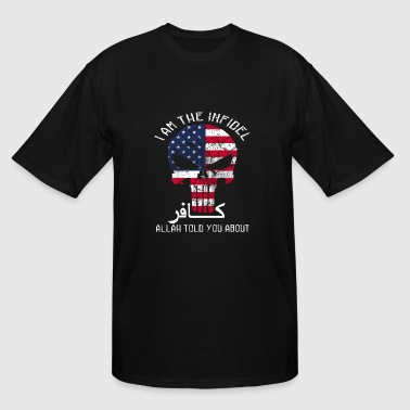 Veteran - I am the Infidel Allah told you about - Men's Tall T-Shirt