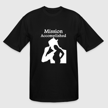Pregnant - Mission Accomplished - Men's Tall T-Shirt