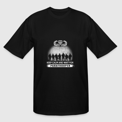Paratrooper - paratrooper + keep calm and wait f - Men's Tall T-Shirt