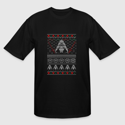 Ugly Christmas sweater for Sith lover - Men's Tall T-Shirt