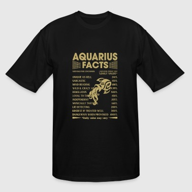 Aquarius - Aquarius Facts - Men's Tall T-Shirt