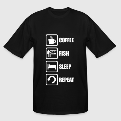 Fishkeeping - Coffe Fishkeeping Sleep Repeat - Men's Tall T-Shirt