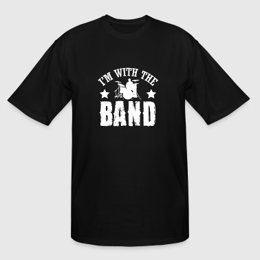 Music - I'm with the band! - Men's Tall T-Shirt