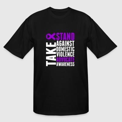Awareness - Take Stand Against Domestic Violence - Men's Tall T-Shirt