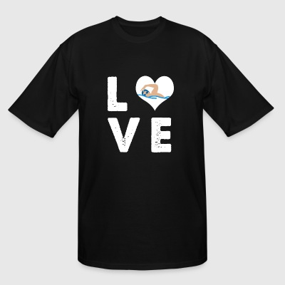 Swimming - I Heart Love Swimming - I love swimmi - Men's Tall T-Shirt