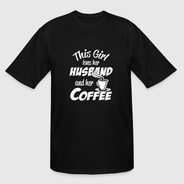 Coffee - this girl loves her husband and her cof - Men's Tall T-Shirt