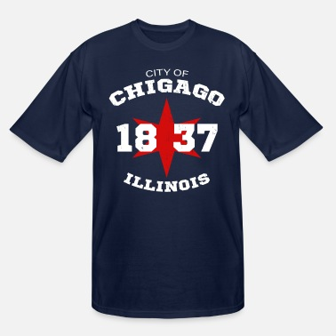 Chicago City of Chicago Illinois White Vintage - Men's Tall T-Shirt