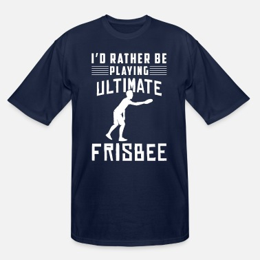 Set Funny Player Id Rather Be Playing Ultimate - Men's Tall T-Shirt