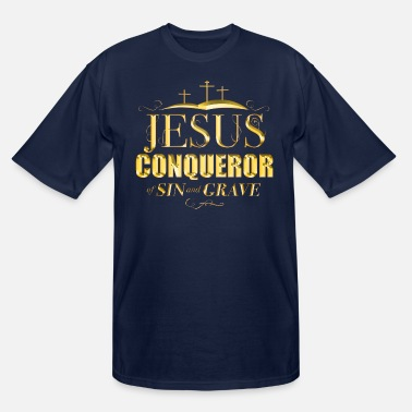 Freak Jesus Conquerer of sin and grave - Men's Tall T-Shirt