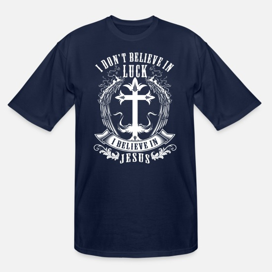 Cool T-Shirts - I BELIEVE IN JESUS - CHRISTIAN SHIRTS - SCRIPTURE - Men's Tall T-Shirt navy