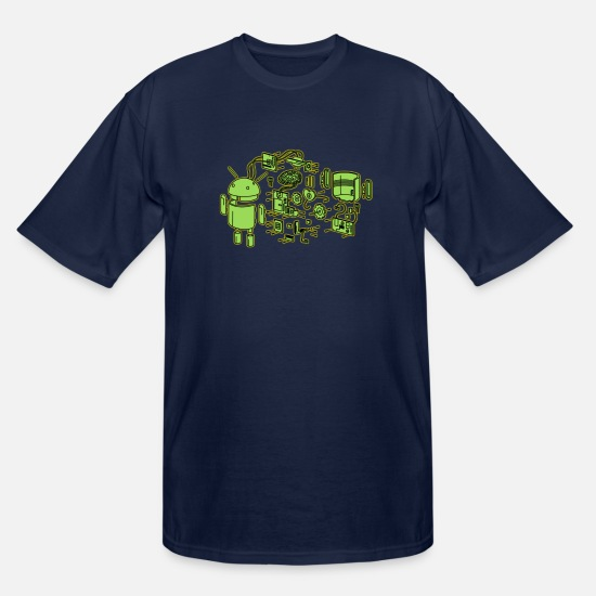 Android T-Shirts - Android Exploded - Men's Tall T-Shirt navy