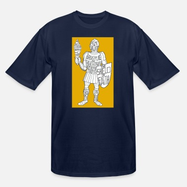 Suit Of Armor Dave The Cat Suit Of Armor GOLD - Men's Tall T-Shirt