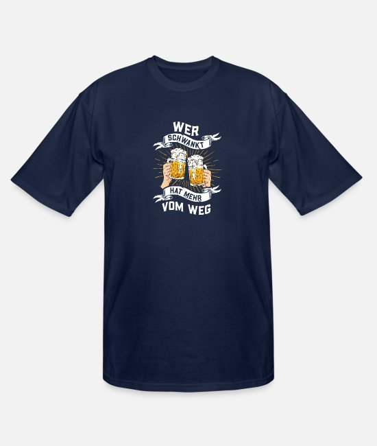 Yeast T-Shirts - Beer, Men's Evening, Football Club, Drinking - Men's Tall T-Shirt navy