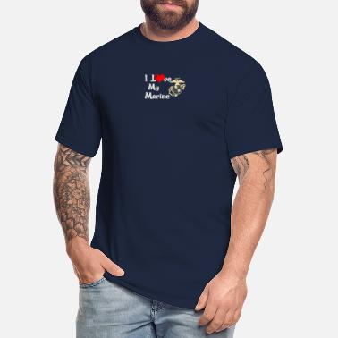 Love Top Seller I Love My Marine - Men's Tall T-Shirt
