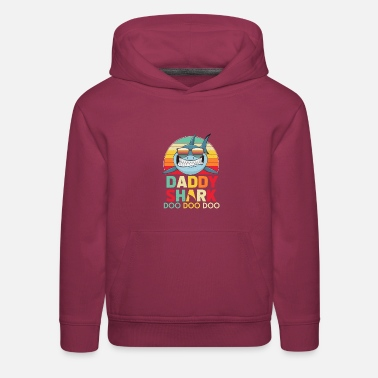 Retro Vintage Daddy Sharks Tshirt gift for Father - Kids' Premium Hoodie