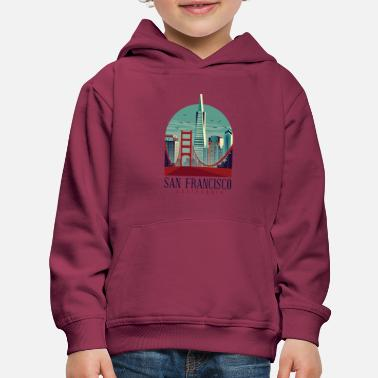 San Francisco California - Kids' Premium Hoodie