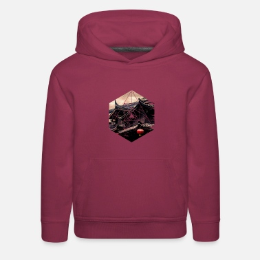 Ancient Chinese Architecture - Geometric Hexagon G - Kids' Premium Hoodie