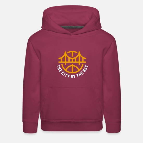 State Capital Hoodies & Sweatshirts - Golden State Basketball - Kids' Premium Hoodie burgundy