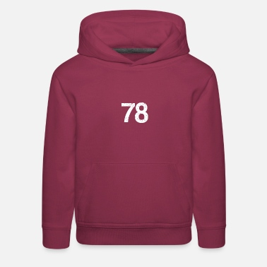 Player Number 78 Number Team Player Football Soccer Basketball - Kids' Premium Hoodie