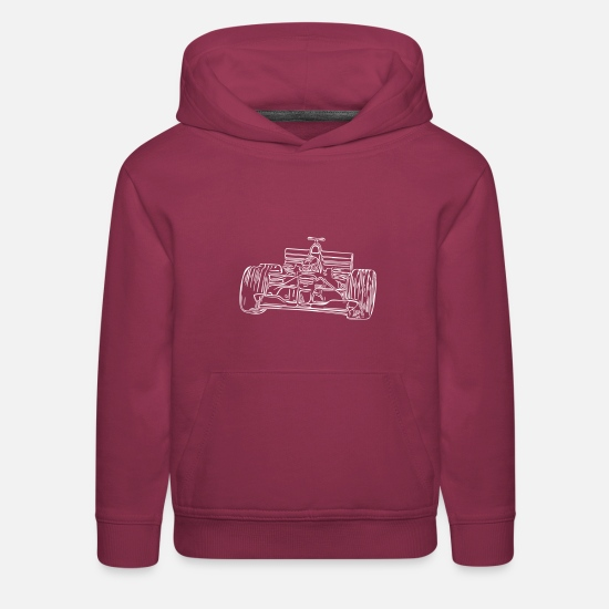 Race Hoodies & Sweatshirts - RACE CAR - Kids' Premium Hoodie burgundy