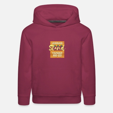 Founder Lemonade Stand Founder and CEO - Kids' Premium Hoodie