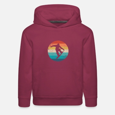 Winter Vintage Retro Winter Park Colorado Snowboard Fan - Kids' Premium Hoodie