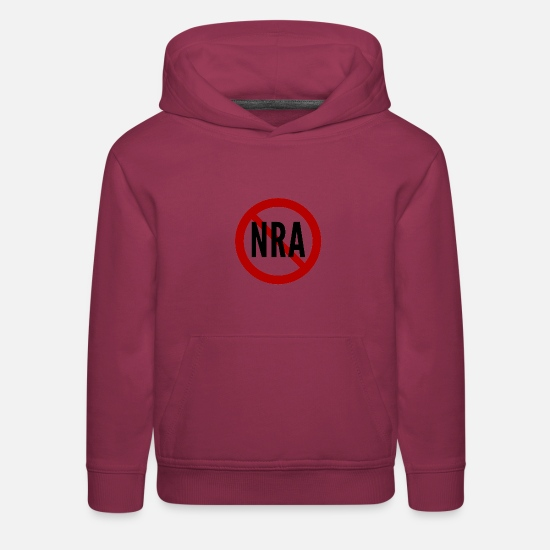School Hoodies & Sweatshirts - Anti-NRA National Rifle Association - Kids' Premium Hoodie burgundy