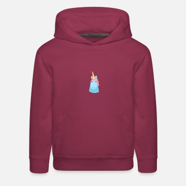 Unicorn character faces - Kids' Premium Hoodie