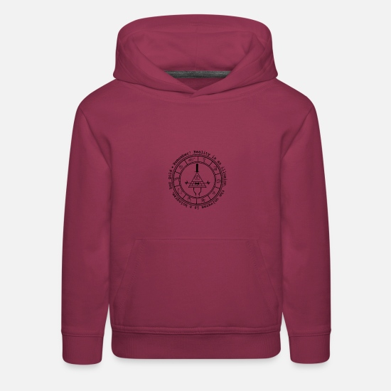 Bill Hoodies & Sweatshirts - Bill Cipher logo - Kids' Premium Hoodie burgundy