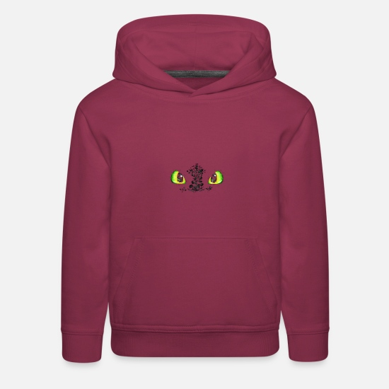 Dragon Hoodies & Sweatshirts - Toothless - Kids' Premium Hoodie burgundy