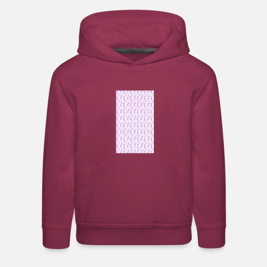 Stylish Hoodies & Sweatshirts - Tenderness Design - Kids' Premium Hoodie burgundy