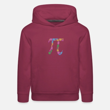 Spring Pi Tshirts Flowery Colorful Pi Day Gifts - Kids' Premium Hoodie