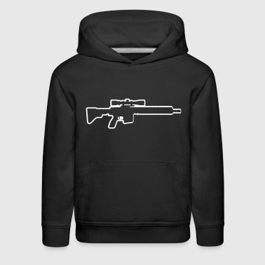 Gun Weapon Shoot Soldier Gamer - Kids' Premium Hoodie