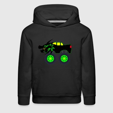 Dragon Monster Truck - Kids' Premium Hoodie