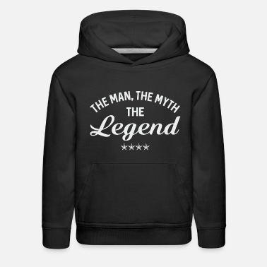 Father And Son Superman THE MAN THE MYTH THE LEGEND - Kids' Premium Hoodie
