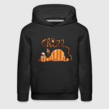Chilling Cat - Chill - Cats - Gift - Cartoon - Kids' Premium Hoodie