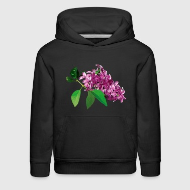 Small Cluster of Pink Lilacs - Kids' Premium Hoodie
