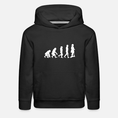 Scooter Little Girl Ride Scooter Evolution - Kids' Premium Hoodie