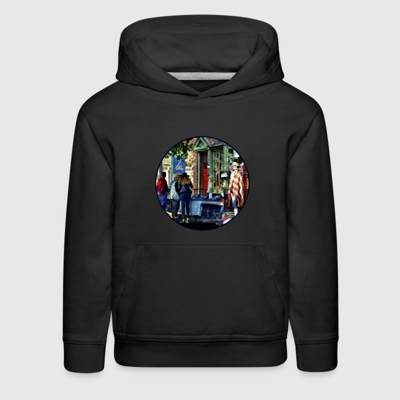 New Hope PA - Shopping Along Main Street - Kids' Premium Hoodie
