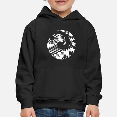Maori Wave Koru Tattoo Tribal Shapes - Gift Idea - Kids' Premium Hoodie
