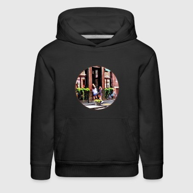 Boston MA - Cafe in Little Italy - Kids' Premium Hoodie