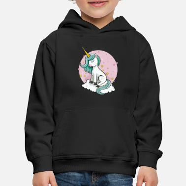 Cute Unicorn - Rainbow Pixie Dust Magic Horse Star - Kids' Premium Hoodie