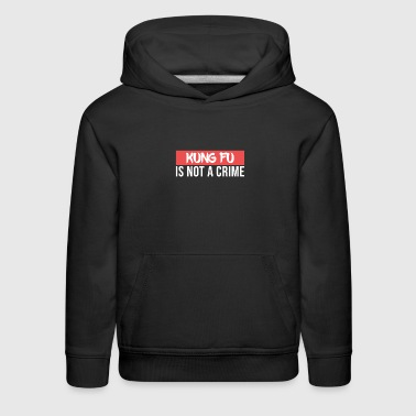 Kung Fu is not a Crime Martial Arts - Kids' Premium Hoodie