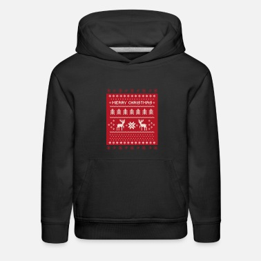 Ugly Christmas Ugly Christmas Sweater Merry Christmas - Kids' Premium Hoodie