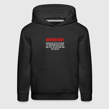 This is the best and funniest tee shirt that's perfect for you Caffeine & Ideas - Kids' Premium Hoodie