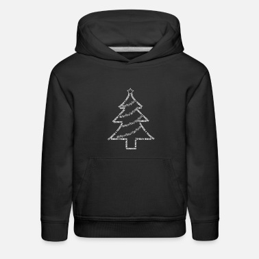 Brass  White Trombone Text Christmas Tree - Kids' Premium Hoodie