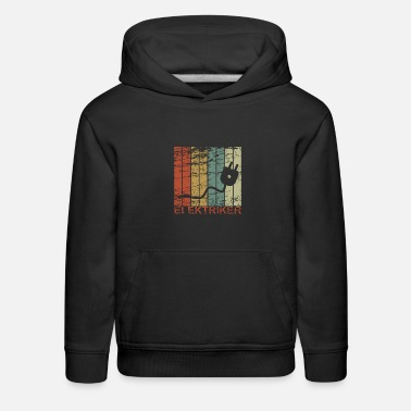 Christmas Electrician - Retro, Electricity, Electronics, Gif - Kids' Premium Hoodie