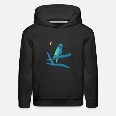 Bird at night - Kids' Premium Hoodie