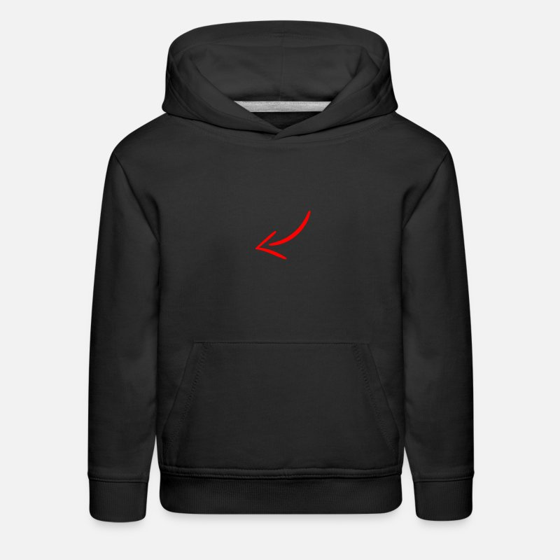 Cheeseburger Hoodies & Sweatshirts - Clickbait arrow - Kids' Premium Hoodie black